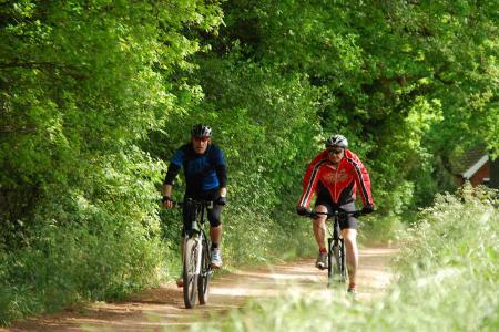 Mooie fietstochten van de camping.