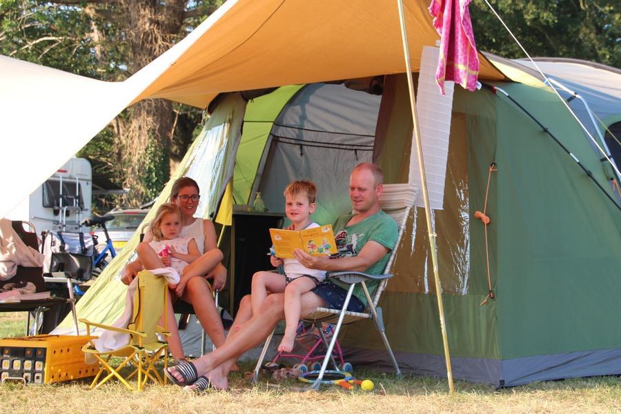 Camping in de zomer